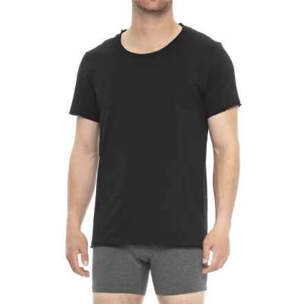 Bread & Boxers Cotton Loose T-Shirt - Crew Neck, Short Sleeve (For Men) in Black - Closeouts