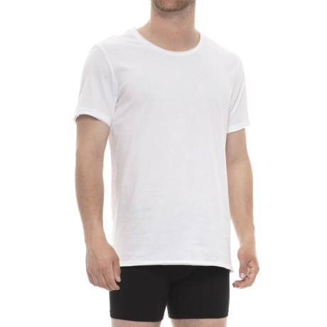 Bread & Boxers Cotton Loose T-Shirt - Crew Neck, Short Sleeve (For Men) in White Traditional
