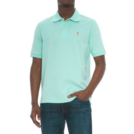 Breakfast Creek Cotton-Pique Polo Shirt - Short Sleeve (For Men) in Seafoam