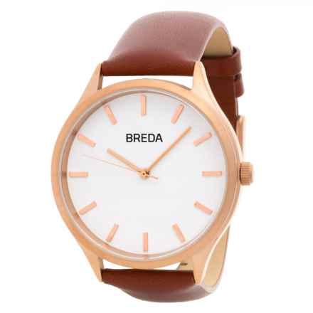 Breda Asper Watch - Leather Strap (For Women) in Rose Gold/Brown - Closeouts