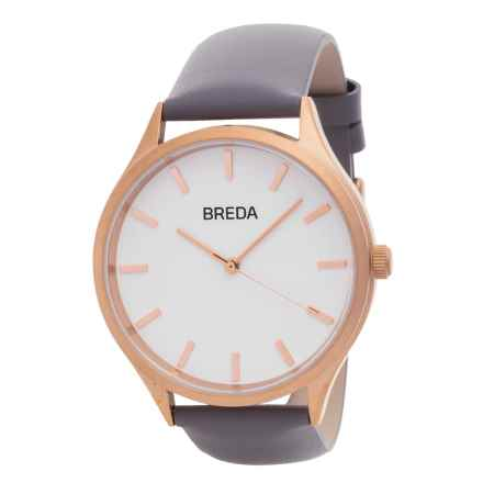 Breda Asper Watch - Leather Strap (For Women) in Rose Gold/Gray - Closeouts