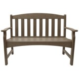 Breezesta Skyline Collection Weatherwood Garden Bench
