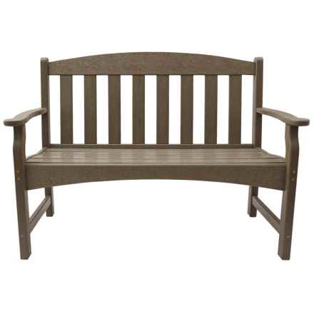 Skyline Collection Weatherwood Garden Bench in Weatherwood - Closeouts