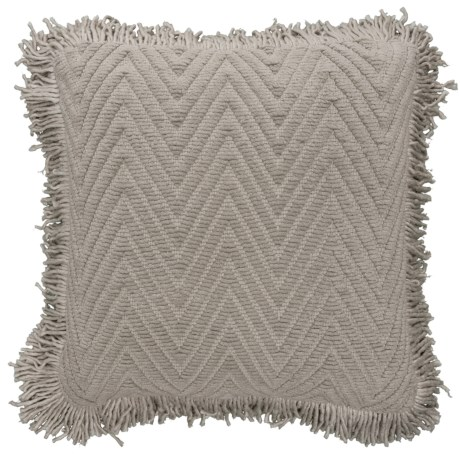 """Brentwood Chenille Chevron Throw Pillow - 18x18"""" in Grey"""