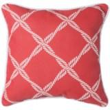 """Brentwood Lattice Print Indoor/Outdoor Throw Pillow - 17x17"""""""