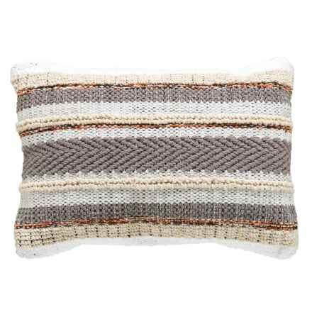"""Brentwood Multi-Stripe Textured Throw Pillow - 14x20"""" in Neutral - Closeouts"""