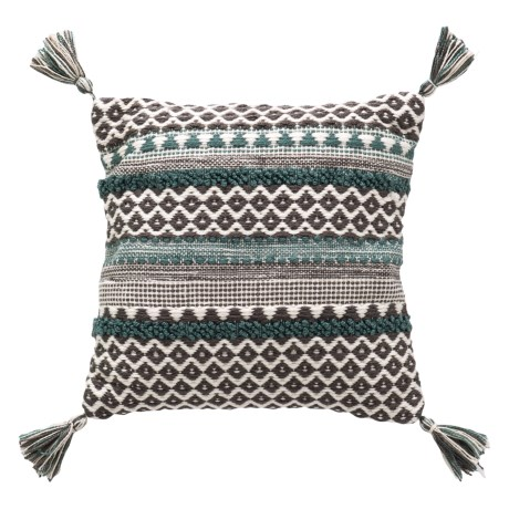 "Brentwood Textured Stripe Throw Pillow - 18x18"" in Teal"
