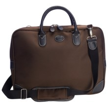 Bric's Pronto Slim Attache Case in Espresso/Black - Closeouts