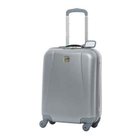 "Bric's 20"" Dynamic Hardside Spinner Carry-On Suitcase in Silver - Closeouts"