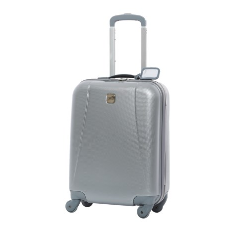 "Bric's 20"" Dynamic Hardside Spinner Carry-On Suitcase in Silver"