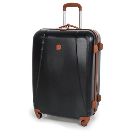 "Bric's 32"" Dynamic Hardside Spinner Suitcase in Black/Tan"