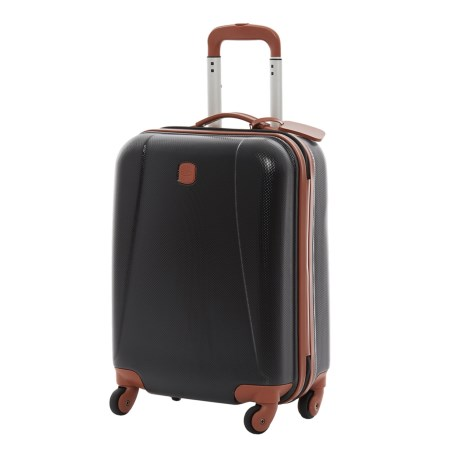"Bric's Dynamic Hardside Spinner Carry-On Suitcase - 20"" in Black/Tan"