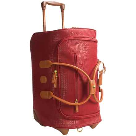 "Bric's My Safari Collection Rolling Carry-On Duffel Bag - 21"" in Red - Closeouts"