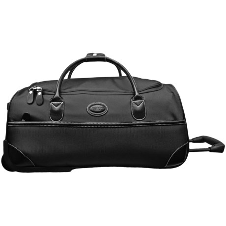 "Bric's Pronto Rolling Duffel Bag - 28"" in Espresso/Black"
