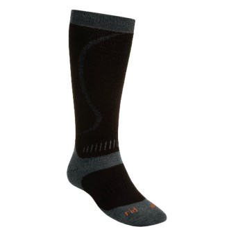 Bridgedale All Mountain Snow Sport Socks (For Men and Women) in Black / Charcoal