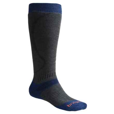Bridgedale All Mountain Snow Sport Socks (For Men and Women) in Dark Grey/Blue - 2nds