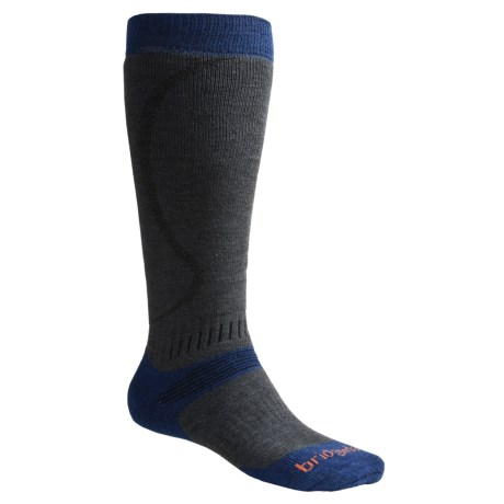 Bridgedale All Mountain Snow Sport Socks (For Men and Women) in Dark Grey/Blue
