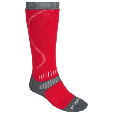 Bridgedale All Mountain Snow Sport Socks (For Men) in Red / Charcoal