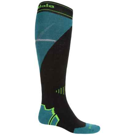 Bridgedale All Mountain Snowboard Socks - Merino Wool, Over the Calf (For Men) in Black/Forest - 2nds