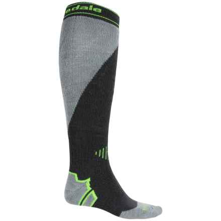 Bridgedale All Mountain Snowboard Socks - Merino Wool, Over the Calf (For Men) in Gunmetal/Stone - 2nds