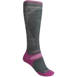 Bridgedale All-Mountain Snowsport Socks - Merino Wool (For Women) in Gunmetal/Raspberry