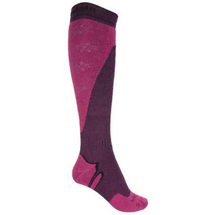 Bridgedale All-Mountain Snowsport Socks - Merino Wool (For Women) in Plum/Berry - 2nds