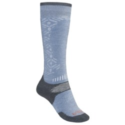 Bridgedale All-Mountain Snowsport Socks - Merino Wool (For Women) in Gunmetal/Raspberry