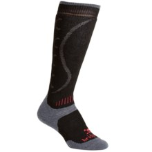 Bridgedale All Mountain Winter Socks - Merino Wool Blend, Heavyweight, Over-the-Calf (For Kids) in Black/Gunmetal - 2nds