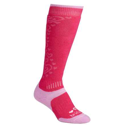 Bridgedale All Mountain Winter Socks - Merino Wool, Over the Calf (For Little and Big Kids) in Raspberry/Pink - 2nds