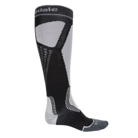 Bridgedale Alpine Tour Socks - Merino Wool, Mid Calf (For Men) in Black/Light Grey