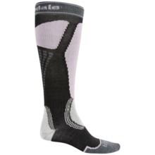 Bridgedale Alpine Tour Socks - Merino Wool, Mid Calf (For Men) in Black/Steel/Charcoal - 2nds