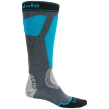 Bridgedale Alpine Tour Socks - Merino Wool, Mid Calf (For Men) in Charcoal/Turquoise - 2nds