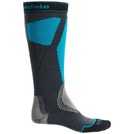 Bridgedale Alpine Tour Socks - Merino Wool, Mid Calf (For Men) in Gunmetal/Blue