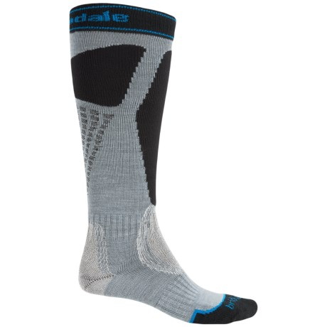 Bridgedale Alpine Tour Socks - Merino Wool, Mid Calf (For Men) in Steel/Black
