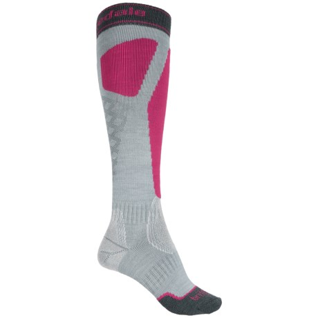 Bridgedale Alpine Tour Socks - Merino Wool, Mid Calf (For Women) in Light Grey/Pink