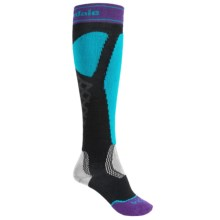 Bridgedale Alpine Tour Socks - Merino Wool, Mid Calf (For Women) in Turquoise/Black - 2nds