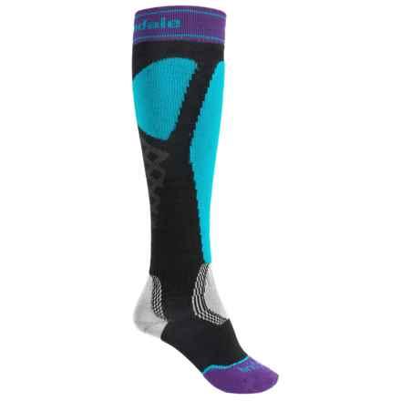 Bridgedale Alpine Tour Socks - Merino Wool, Mid Calf (For Women) in Turquoise/Black - 2nds