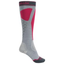 Bridgedale Alpine Tour Socks - Mid Calf (For Women) in Grey/Fuchsia - 2nds