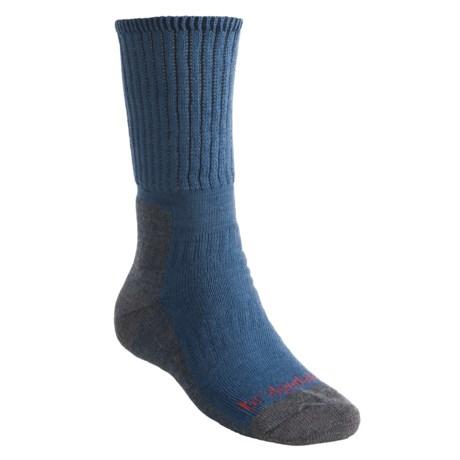 Bridgedale Backpacker Socks - Merino Wool (For Men and Women) in Tan/Dark Taupe