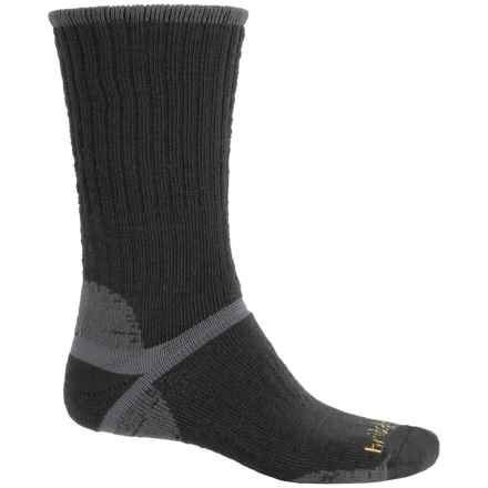 Bridgedale Classic Hiker Boot Socks - Wool, Crew (For Men) in Black/Grey - 2nds