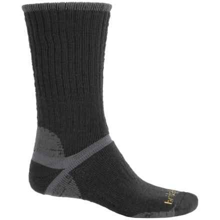 Bridgedale Classic Hiker Boot Socks - Wool, Crew (For Men) in Black/Grey - 2nds