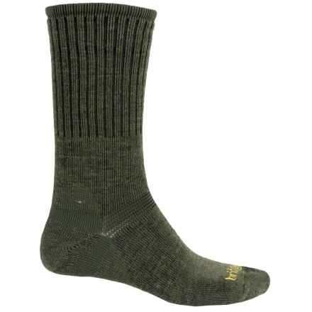 Bridgedale Classic Hiker Boot Socks - Wool, Crew (For Men) in Dark Olive Heather - 2nds