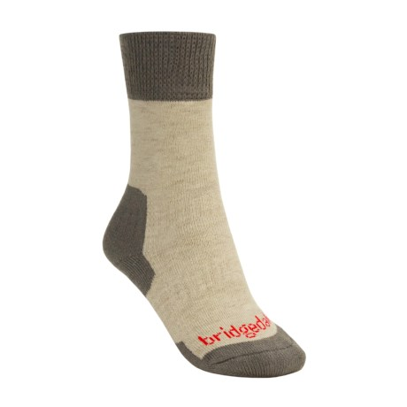 Bridgedale Comfort Summit Trekker Socks (For Women) in Grey Brown / Khaki