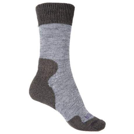 Bridgedale Comfort Summit Trekker Socks (For Women) in Grey