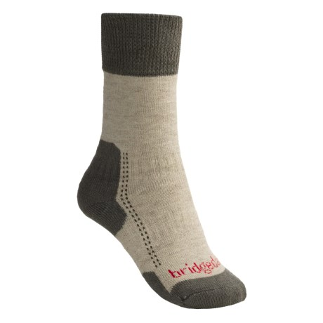 Bridgedale Comfort Summit Trekker Socks (For Women) in Natural/Taupe