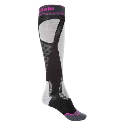 Bridgedale Control Fit II Lightweight Ski Socks - Merino Wool, Over the Calf (For Men) in Black/Light Grey - 2nds