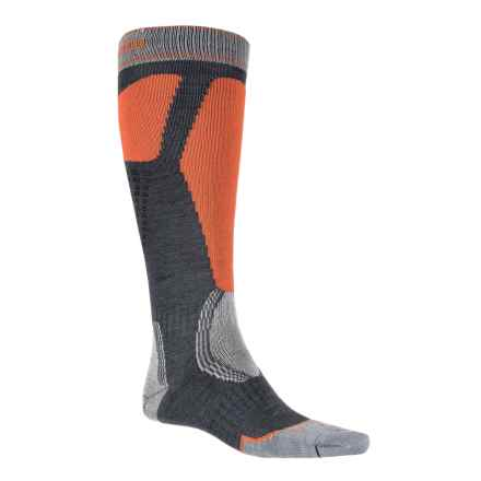 Bridgedale Control Fit II Ski Socks - Merino Wool, Over the Calf (For Men) in Gunmetal/Orange - 2nds