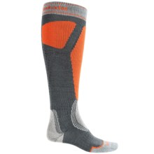 Bridgedale Control Fit II Ski Socks - Over the Calf (For Men) in Charcoal/Orange - 2nds