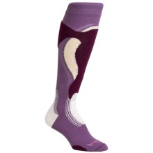 Bridgedale Control Fit MerinoFusion Ski Socks - Merino Wool, Over the Calf (For Women) in Plumberry - Closeouts