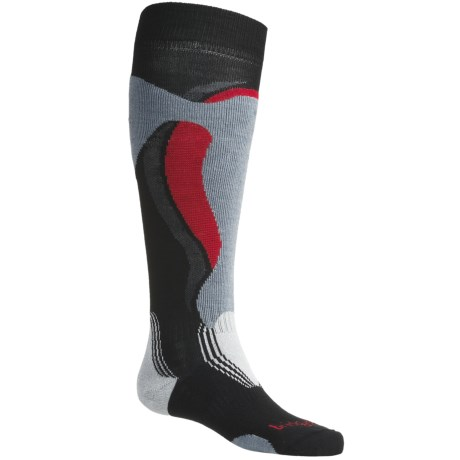 Bridgedale Control Fit Ski Socks - Lightweight, Wool (For Men and Women) in Black/Stone